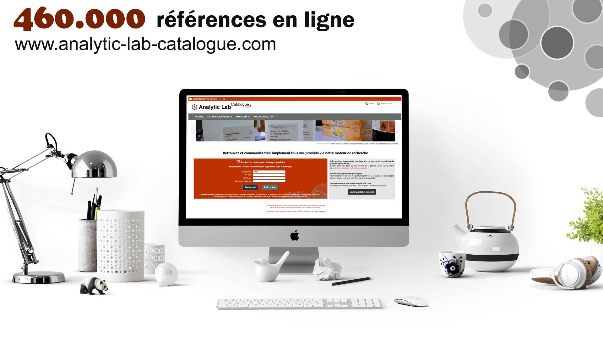 Site internet catalogue produits chimiques et consommables pour laboratoires