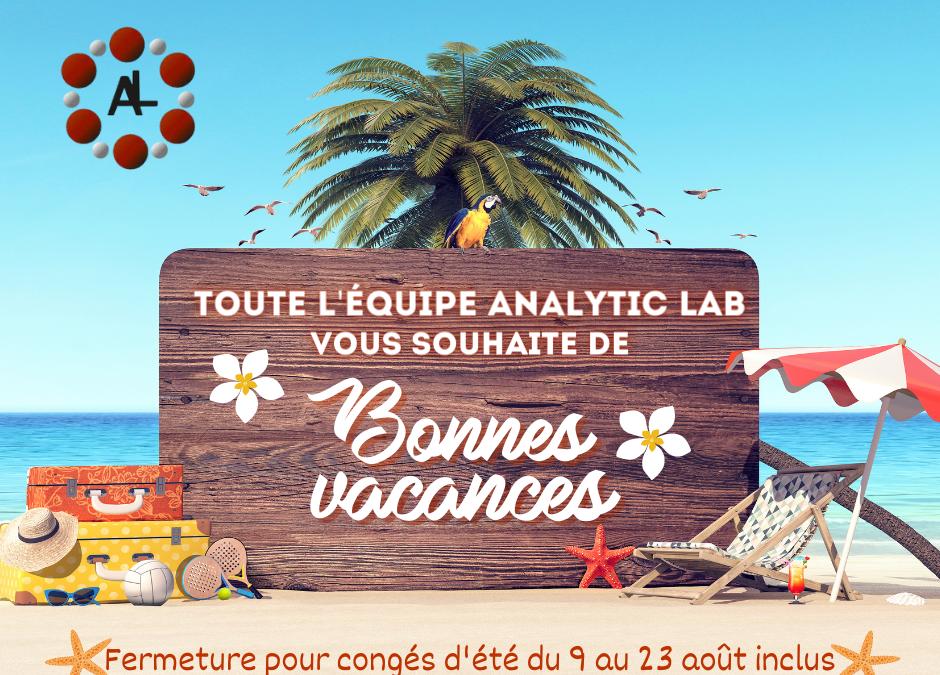 Analytic Lab : congés d'été !